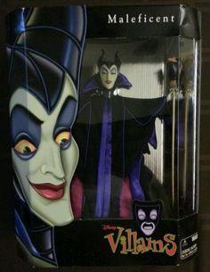 MALEFICENT Disney Villains Doll Barbie Size NIB Sleeping Beauty vintage Toy NRFB