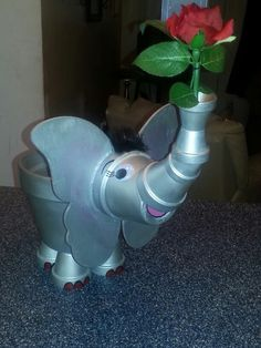 Terra cotta elephant by Sandy