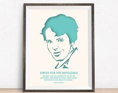 Amelia Earhart - Nevertheless She Persisted - Quotes - Wall Art - Motivational Poster - Minimalist Print - Feminist Gifts - Wedding Gift