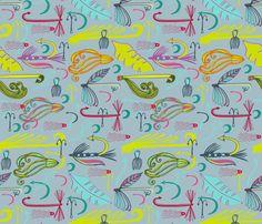 Hook, Line and Sinker fabric by slumbermonkey on Spoonflower - custom fabric
