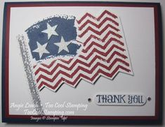 Work of Art Wavy Flag CASE from Aly Stamps - work of art, dazzling diamonds glimmer paper, stars & stripes, flag, old glory, 4th of july, independence day, july 4th, thank you, military, stampin up, cards  Details at www.toocoolstamping.com
