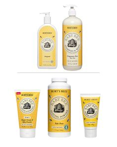 Burts bees baby bee bubble bath, shampoo & wash, nappy ointment with vitamin E, nourishing lotion, sunscreen stick, diaper rash ointment, nourishing baby oil... I have checked these on 'Think Dirty' app which informs of the carcinogenic, developmental & reproductional toxicity & allergenic nature of some of our well known products. Most Burts Bees products get the green light that they are safe for baby.