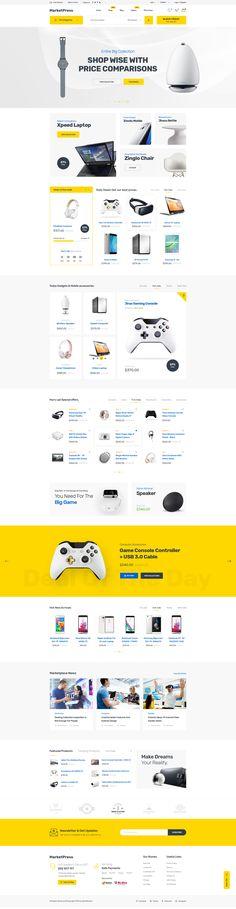 MarketPress - Multipurpose E-commerce & Multivendor PSD Template by XpeedStudio