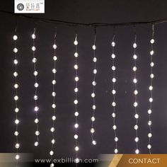 2x2M Warm White LED curtain lightsrainproof for wedding party