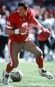 Steve Young..met him post 49ers playing days. So much bigger than you might expect. Very pleasant.
