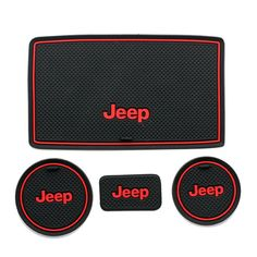 Amazon.com: Moonet Heavy Duty Non-slip Interior door Cup Holder Mats Mat For Jeep Wrangler JK 2008-2015 4pcs white: Automotive