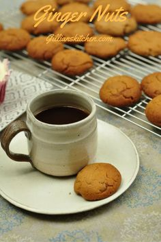 Ginger Nut Biscuits: Crunchy ginger biscuits with a bite of their own