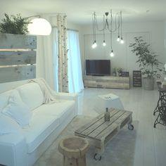 ハンドメイド/IKEA/白樺の木/観葉植物/パレットテーブル/照明…などのインテリア実例 - 2016-01-10 15:56:01 | RoomClip(ルームクリップ)
