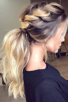 Braided Hair with Ponytail
