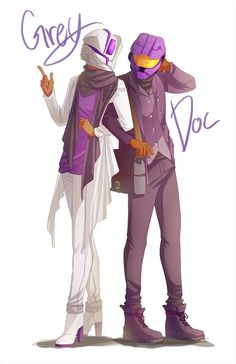 Grey and Doc by Synnesai on DeviantArt. Love this artist!