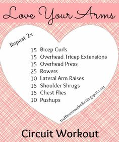 arm workouts circuits - Google Search