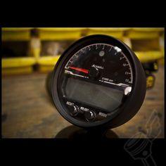 Acewell 4553 Black Digital Speedometer/Tachometer/Multi Purpose - (Black)
