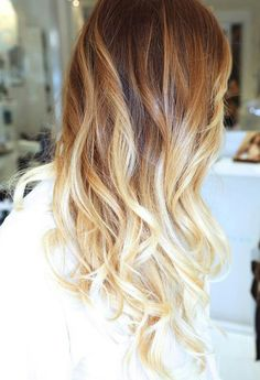 Perfect light ombré with carmel roots!