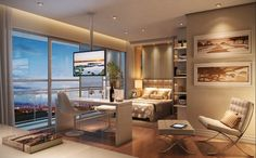 O conceito de estúdio saiu da ideia de loft que, por sua vez, surgiu a partir de antigos armazéns dos Estados Unidos. Estúdios são espaços...