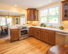 Kitchen, Good Looking Tiles For Backsplash Kitchen Ideas Kitchen Furniture Kitchen Integrated Dining Room Wooden Dining Table Matching With ...