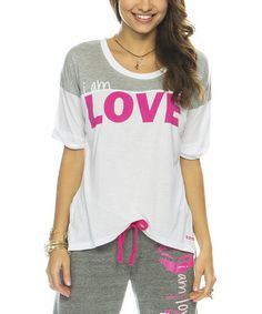 White 'I Am Love' Sherpa T-Shirt by Peace Love World, $37 !!  #zulilyfinds
