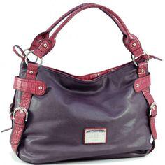Dasein fashion hobo bag (Purple)
