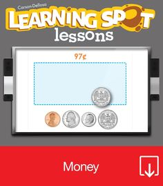 One penny, two penny, three penny, four, this unit makes counting coins no chore! The Money Learning Spot™ Lessons unit for second grade contains the following lessons: Money Recognition Counting Coins Money Values Carson-Dellosa's Learning Spot™ Lessons feature dynamic, elementary curriculum aligned to Common Core Standards. Covering math, science, language, and social studies topics, each unit includes a comprehensive lesson plan with teacher notes and samples, as well a…