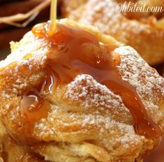 "Caramel Apple Popovers! ~ Pinner says, ""Very easy!"" I'm all about easy and good!"