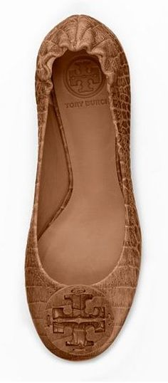 Amazon Croc Print Ballet Flats - Tory Burch {love these for fall}