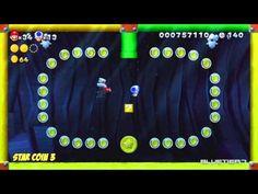 New Super Mario Bros. U - (Co-op) Acorn Plains-A | Blooper's Secret Lair Star Coins