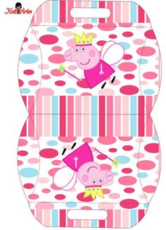 Peppa Pig Printables, Free Printables, Pig Candy, Cumple Peppa Pig, Oh My Fiesta, George Pig, Pig Birthday, Pillow Box, Party In A Box