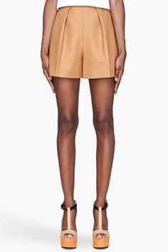CARVEN Golden beige Oversized Shorts