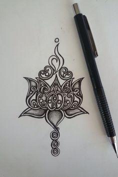 Lotus tattoo design With NEDA symbol Tattoo L, Hamsa Tattoo, Piercing Tattoo, Body Art Tattoos, New Tattoos, Sternum Tattoo, Symbol Tattoos, Chest Tattoo Drawings, Mandala Foot Tattoo