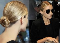 Been super into the slicked back bun look lately. It makes you look so much more pulled together and with a middle part can be super sleek