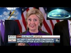 "Hillary Clinton Mocks God's Flat Earth Firmament ""Glass Ceiling"" During Concession Speech - YouTube"