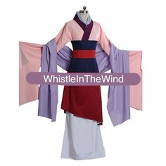 Adult Custom Made Mulan Inspired Costume Dress by WhistleInTheWind, £95.00