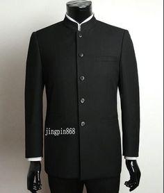 Men Suit Sets Chinese Tunic Suits Stand Collar Classic Suit Blazer Brand Design Business Formal Male Cotton Suit Sets Y0470