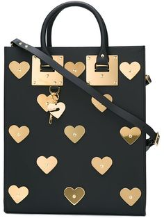 Shop Sophie Hulme 'Albion Hearts' box tote in Minetti from the world's best…