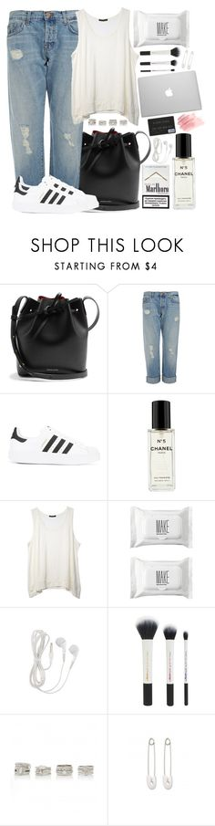 """""""#39"""" by oneandonlyfashion ❤ liked on Polyvore featuring Mansur Gavriel, J Brand, adidas, Chanel, Make, Forever New and Kristin Cavallari"""