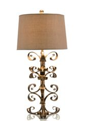 L40175 Iron Curls Table lamp 37H