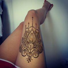 #thigh #henna