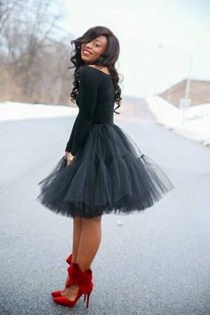 I'm obsessed with tulle skirts!
