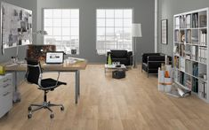 Our product range in laminate floors gives you infinite possibilities. From brushed to matt surfaces like authentic wooden floors. Wooden Flooring, Laminate Flooring, Office Desk, Table, Furniture, Design, Home Decor, Acacia, Colors