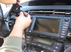 How to install 2009-2013 Toyota Prius Radio navigation system with IPOD aux? Here are instructions: http://www.carstereowiki.com/how-to-install-2009-2013-toyota-prius-radio-navigation-system-with-ipod-aux/
