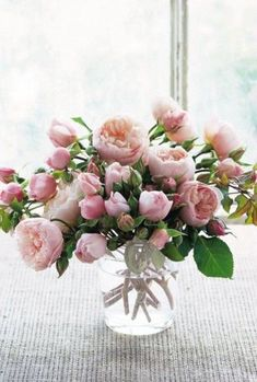 Pretty pink David Austin roses don't need any extra filler flowers!