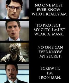 I really like that whoever put this together chose to use Christopher Reeve for their pic of Superman.