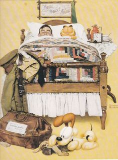 Garfield Norman Rockwell