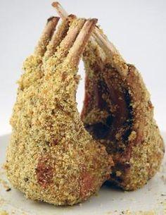 Gordon Ramsay's Herb Crusted Rack of Lamb. I got to eat this when I went to a Hell's Kitchen taping in l.a. Soooooooooo goooooood.