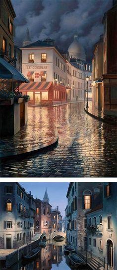 eugene lushpin paintings | City Paintings by Eugene Lushpin | Inspiration Grid | Design ...