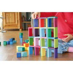 Grimm's Color Chart Rally - Wooden Blocks Set - Bella Luna Toys