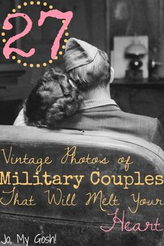 Browse through a gallery of vintage photos of military couples. So romantic!