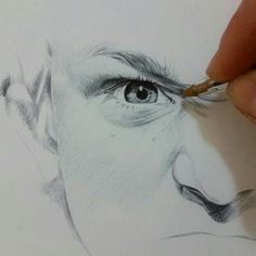 Eye - drawing pen - ballpoint