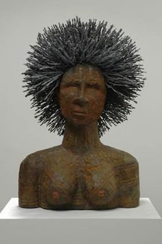 Alison Saar  Mo'fro  Wood, tin & barbed wire  2006