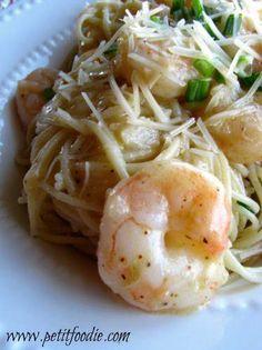 Skinny creamy shrimp pasta