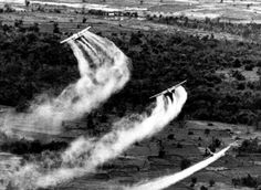 US Air Force planes spray the defoliant chemical Agent Orange over dense vegetation in South Vietnam in this 1966 file photo. AP Photo/file